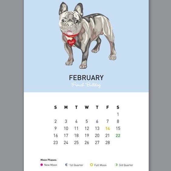 calendar graphic design