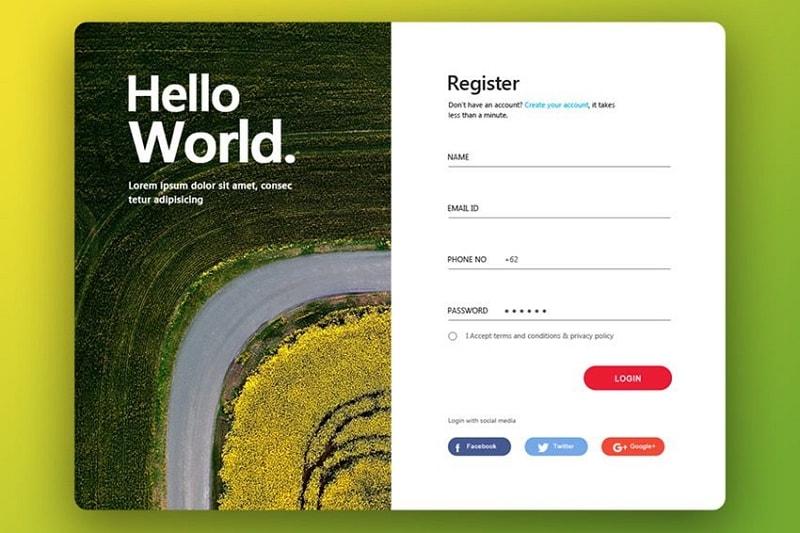 login page design templates free download