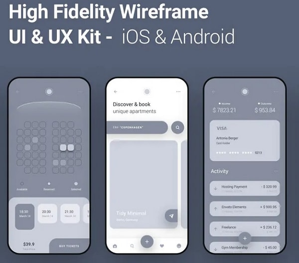 iphone wireframe kit