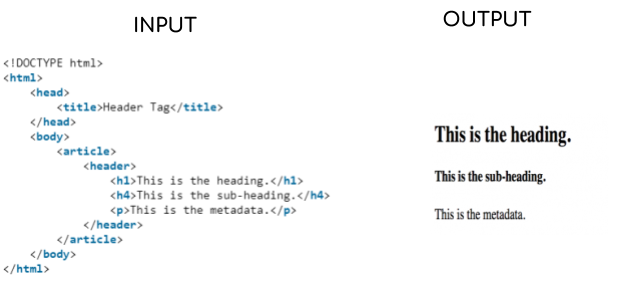 html page header design