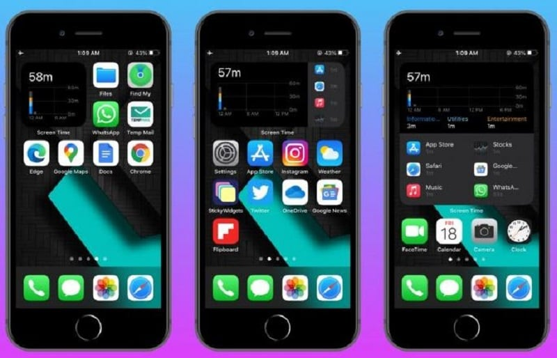 iphone widgets