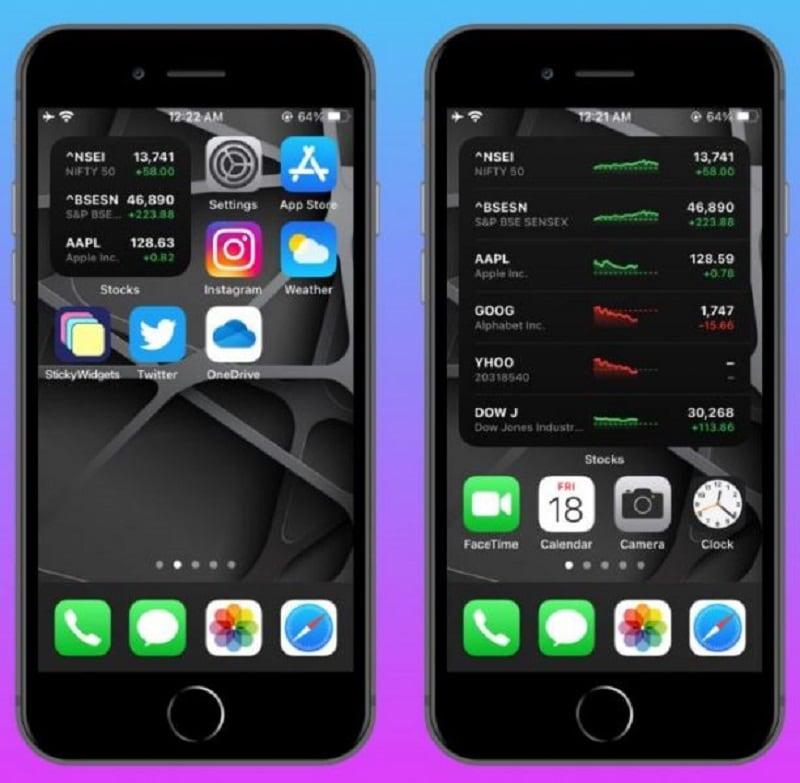 new iphone widgets