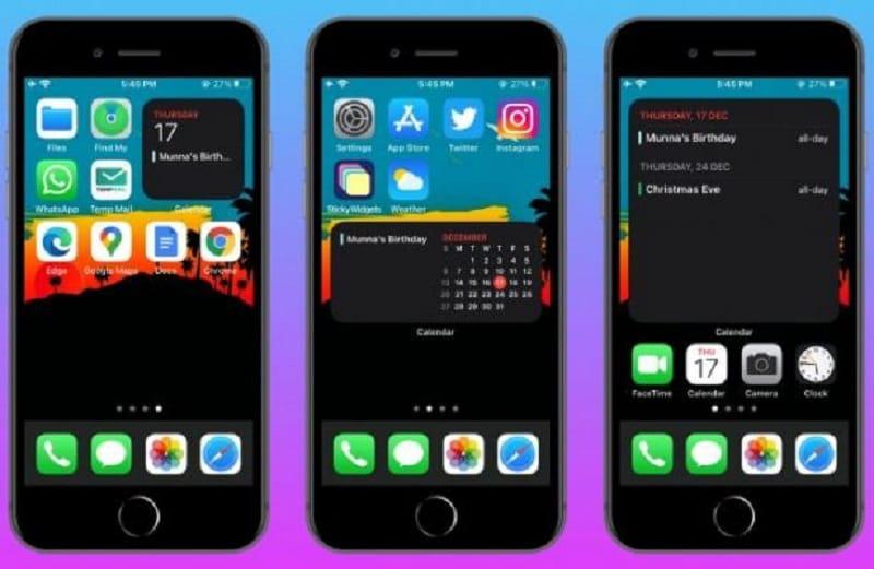 iphone update widgets
