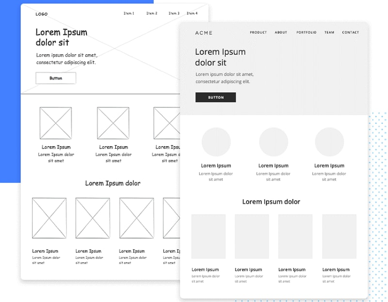 iphone wireframe template low fidelity