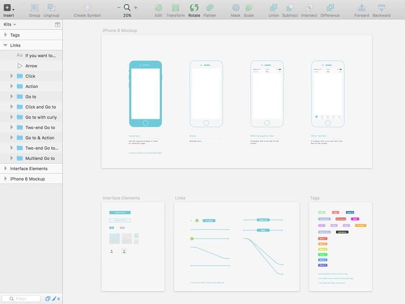 iphone wireframe template printable