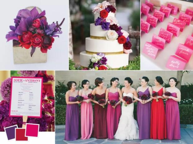 design wedding color palette