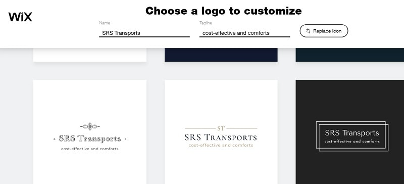 wix logo designr