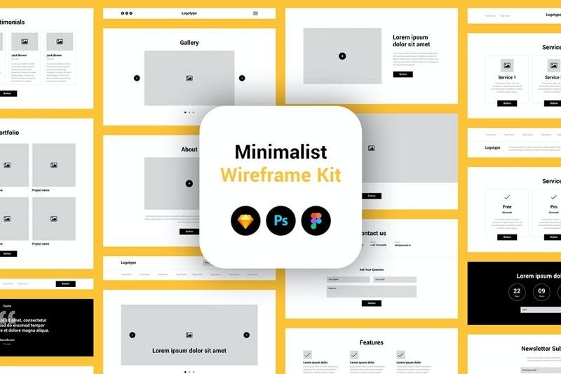 sketch mobile wireframe kit