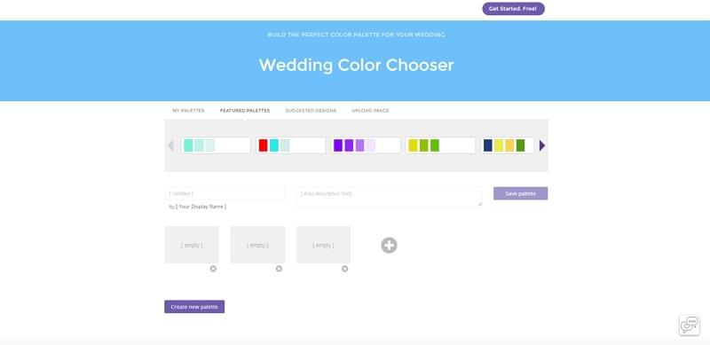 wedding color palette creator