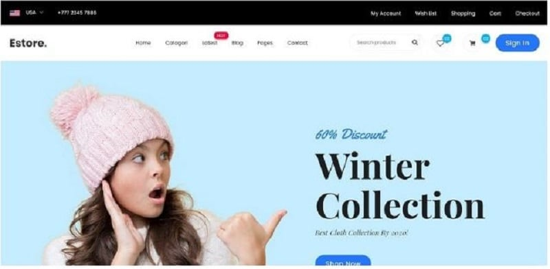 online shopping templates