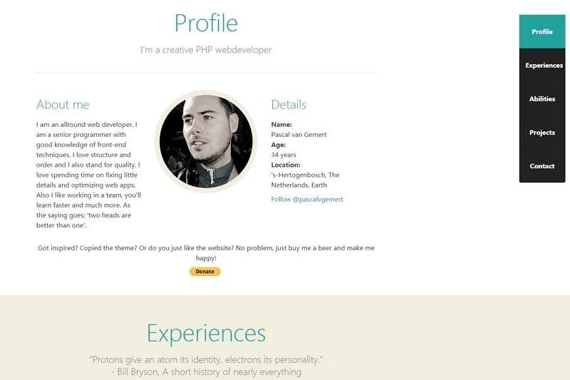 best personal website designs