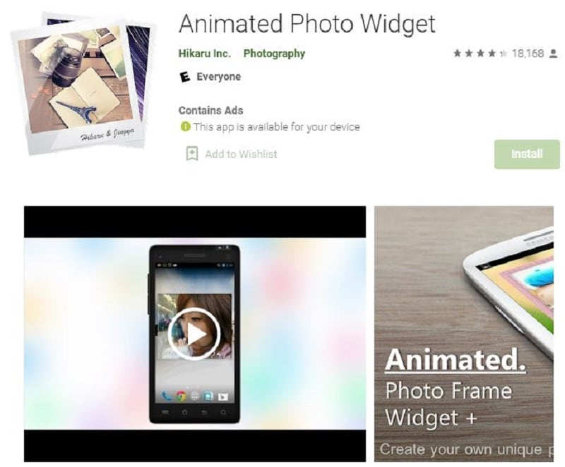 photo widget for android