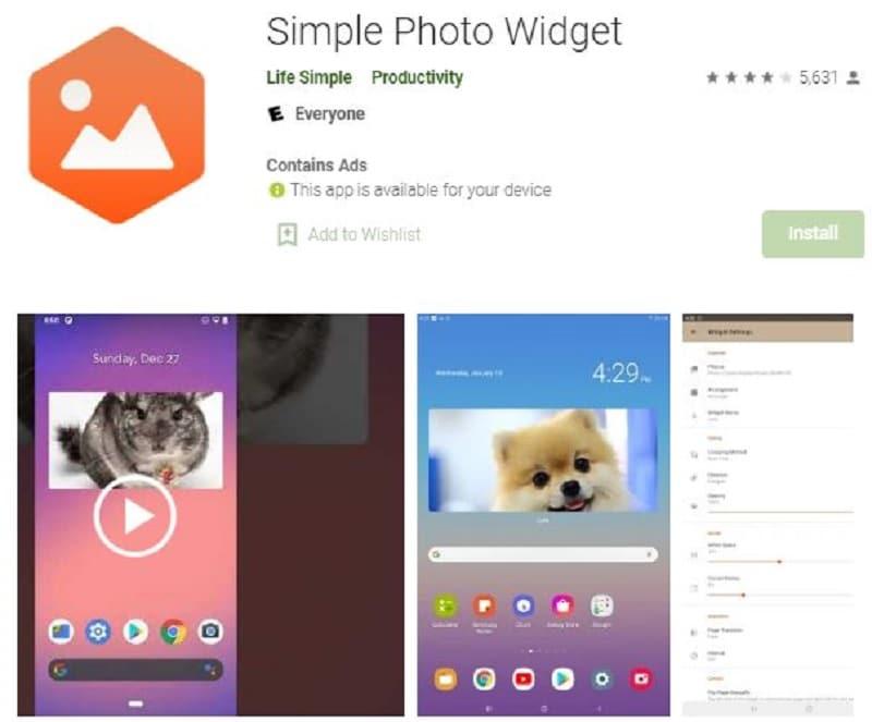 simple photo widget