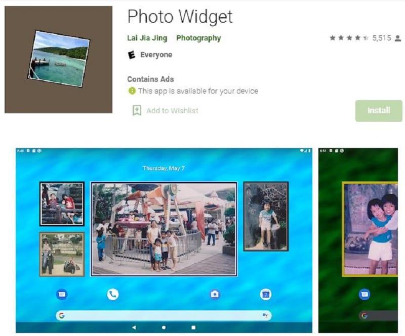 picture frame widget