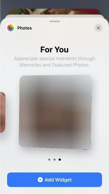 photo widget iphone