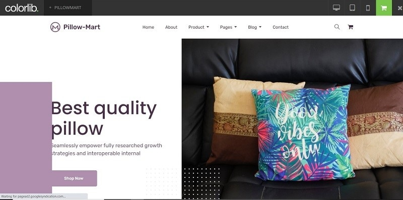 eCommerce site templates