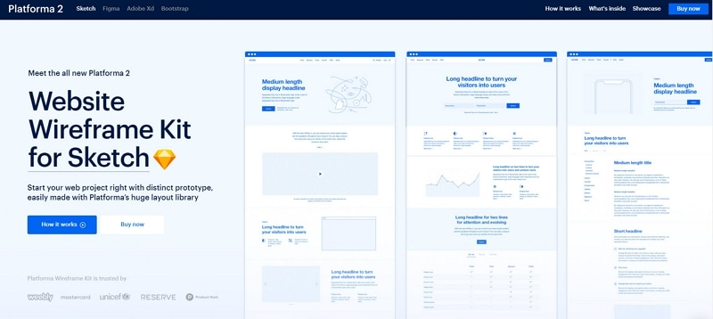invision form wireframe kit