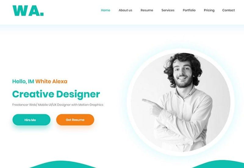 xd website template