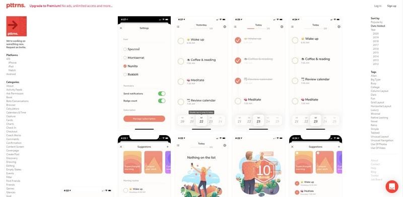 modern web page design