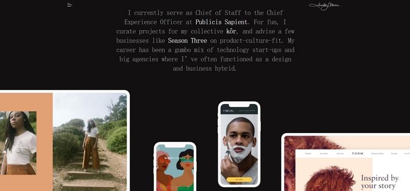 personal web page design