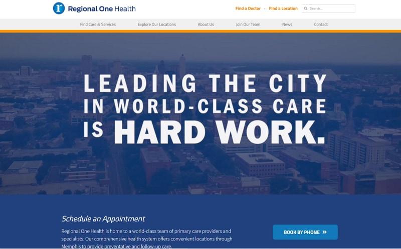 medical clinic website design
