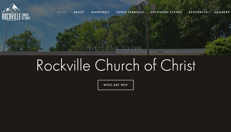 church website design templates