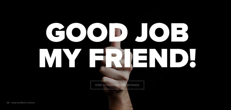 minimalist web page