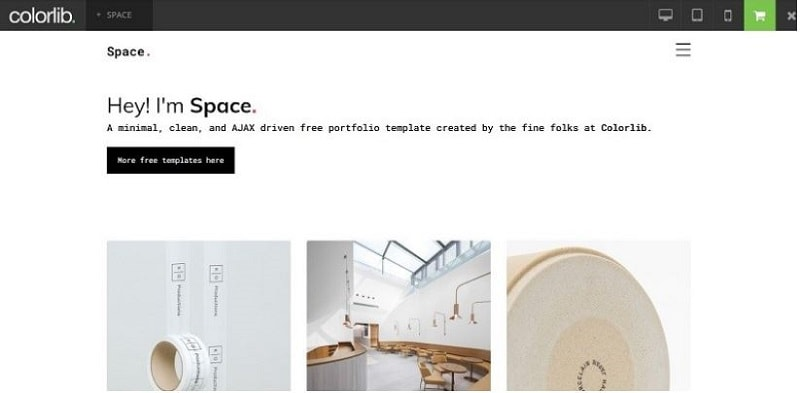 minimalist website template