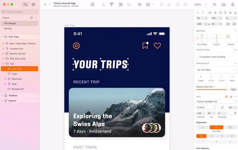 sketch app design