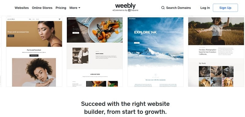 wix vs weebly vs squarespace