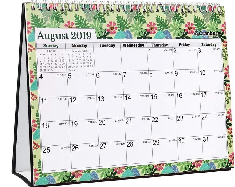 table calendar design 2021