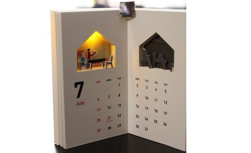 table calendar 2021 design