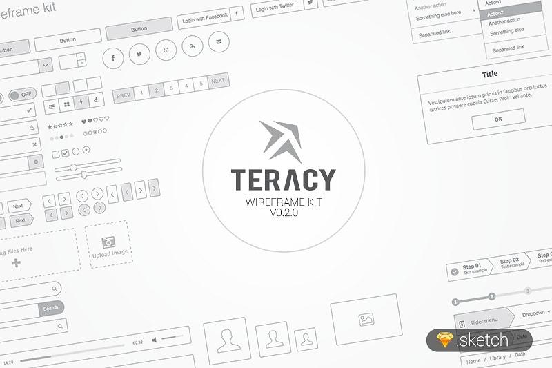 free sketch wireframe kit