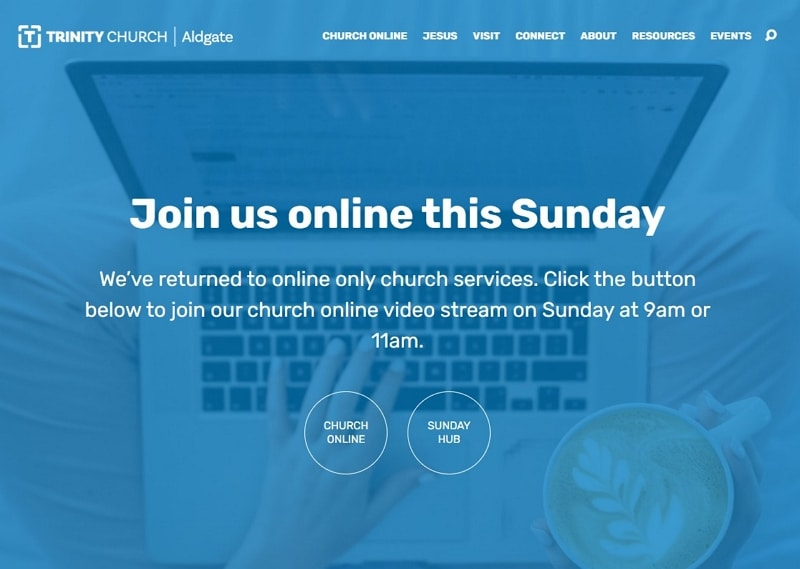 church web page design