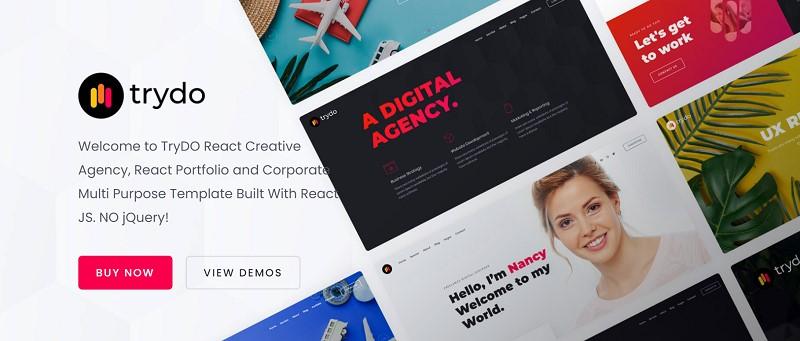 react js website template free