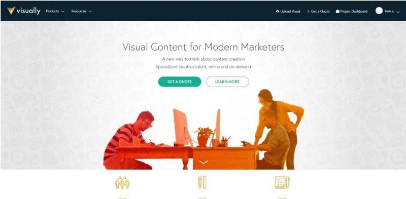 infographic website design