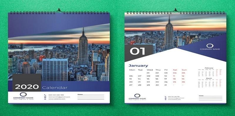 calendar design wall sticker