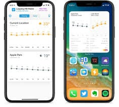 weather on home screen iphone