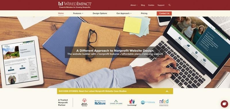 charity websites design
