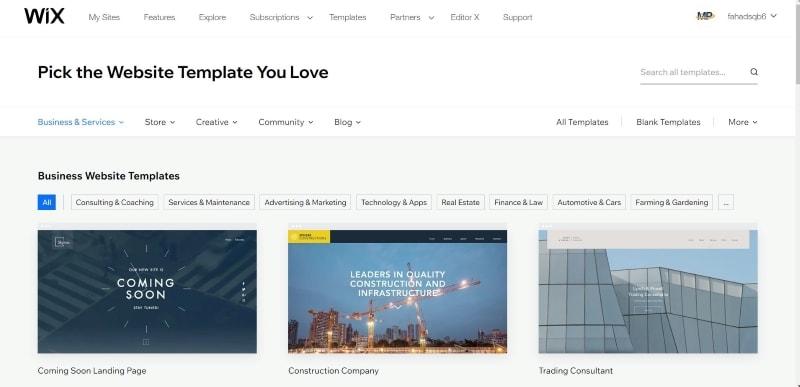 developing a website from scratch
