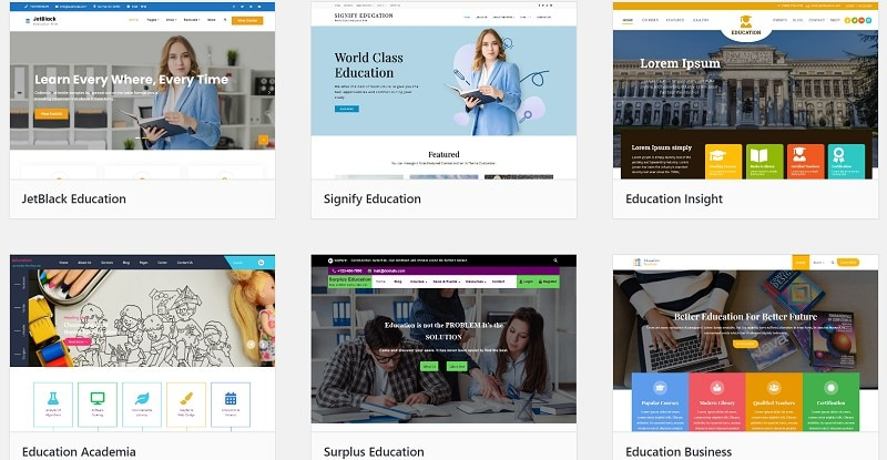 free school website templates
