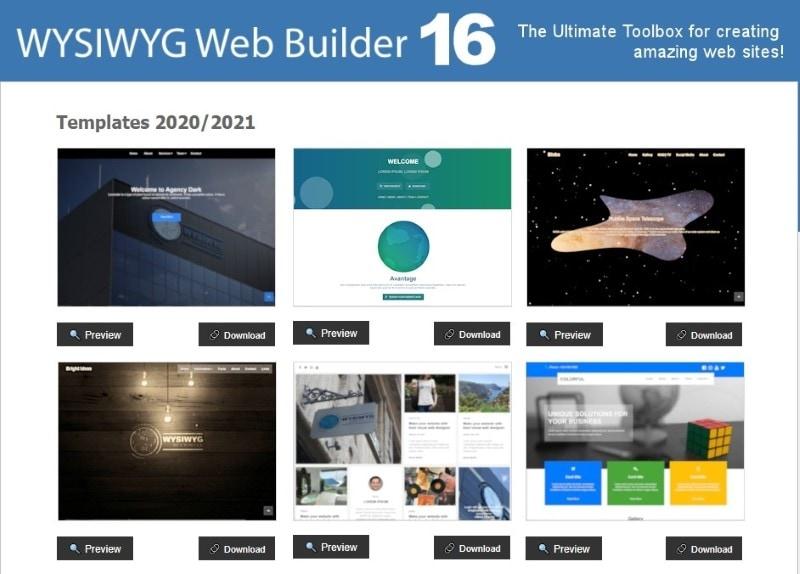 wysiwyg web builder free