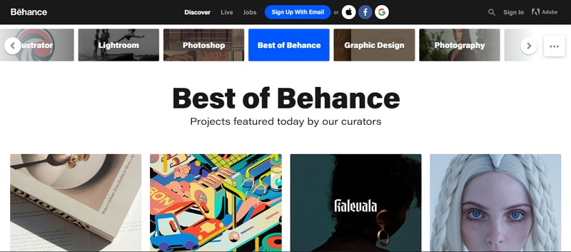 motion graphics portfolio website