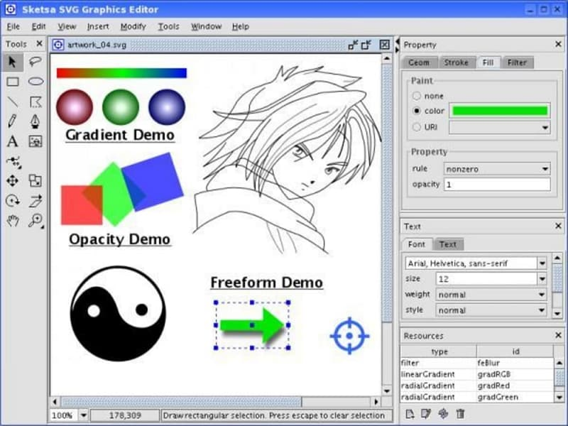linux svg editor