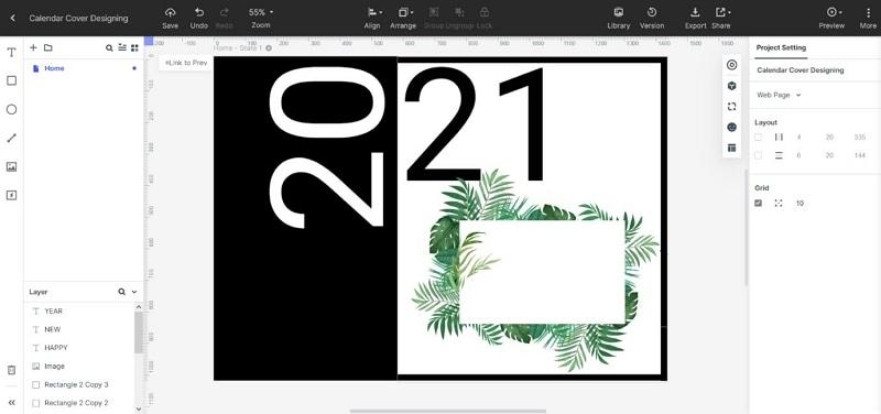 calendar cover page design