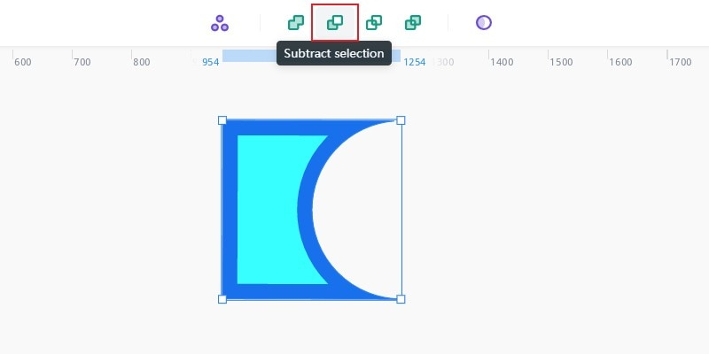 subtract selection of boolean operations
