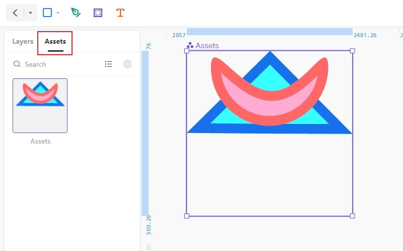 assets in create symbol