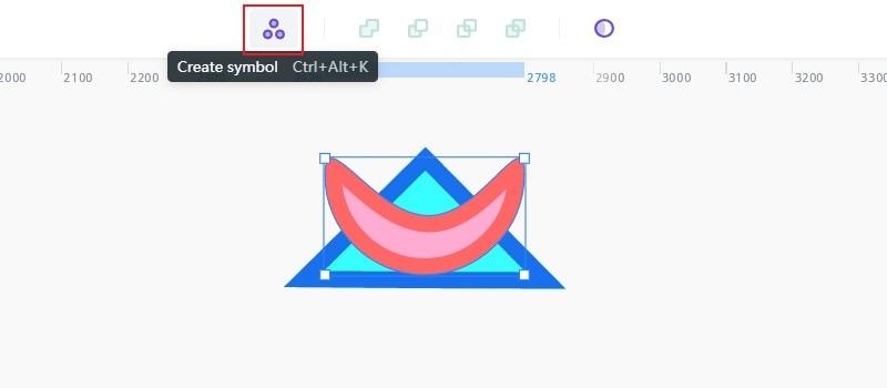 create symbol on top toolbar