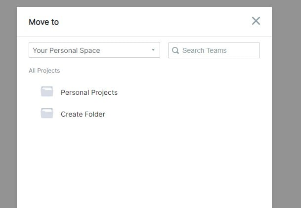 move personal project to enterprise space