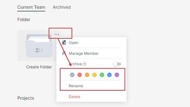 set folder name and icon